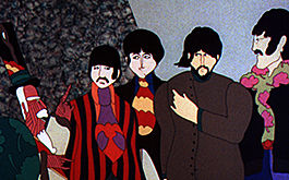 Yellow Submarine: Szenenbild: The Beatles als Zeichentrickfilmfiguren (© Pictures Alliance/United Archives)