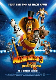 Madagascar 3: Flucht durch Europa, Filmplakat (Foto: Paramount Pictures Germany)