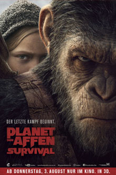 Planet der Affen: Survival, Filmplakat (© 2017 Twentieth Century Fox)