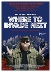 Michael Moore – Where To Invade Next (Filmplakat, © Falcom Media)